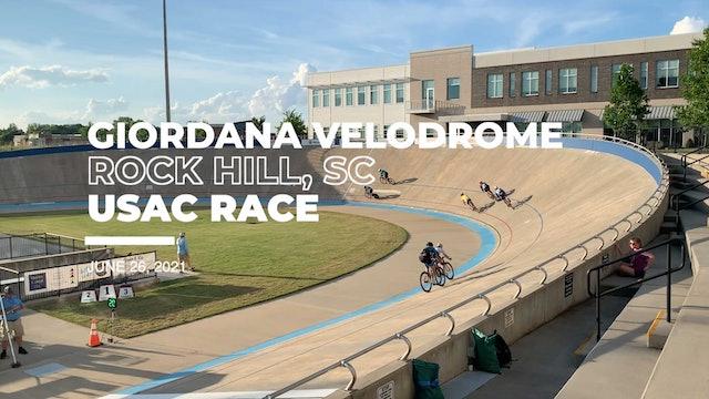 June 2021 Giordana Velodrome Race Rock Hill, SC