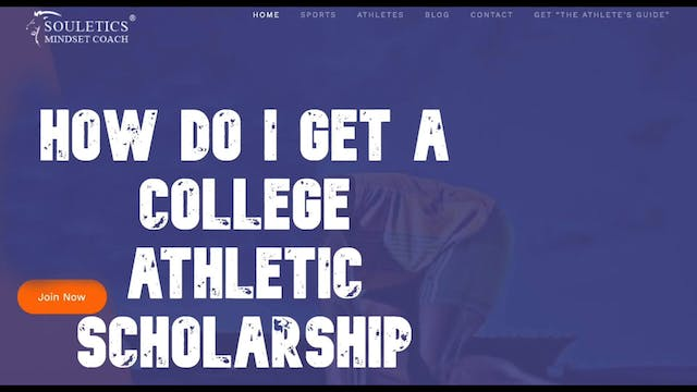 How to get a college athletic scholar...