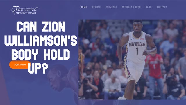 Question About Zion Williamson's Body...