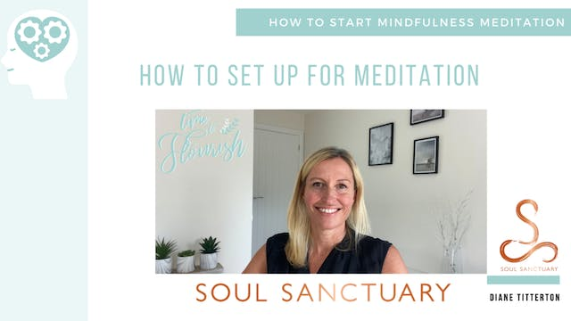 Lesson 1a - Video: Setting up for Meditation