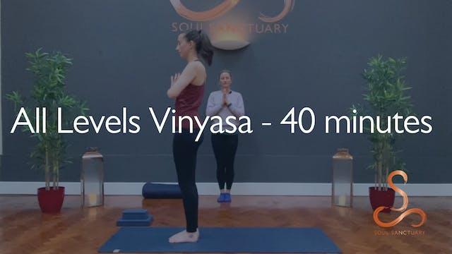 All Levels Vinyasa with Laura Wheeler...