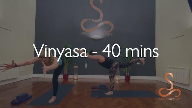 Vinyasa with Charlotte Ellis - 40 min...