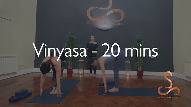Vinyasa with Charly Sidaway - 20 minutes