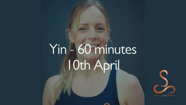 Yin with Becky Clissett - 60 minutes:...