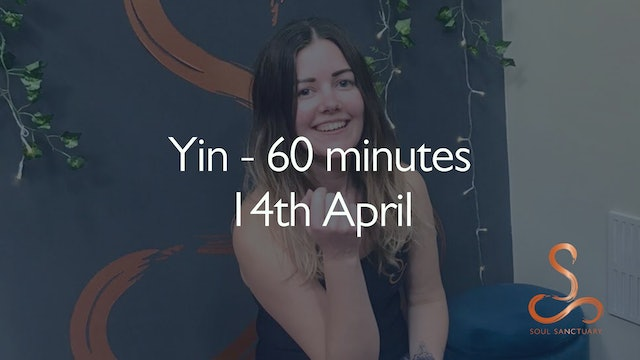 Yin with Polly Woodward - 60 minutes: 14th April