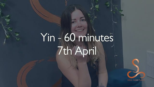 Yin with Polly Woodward - 60 minutes:...