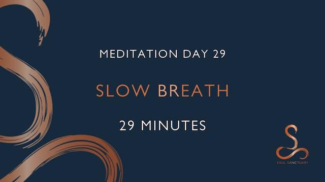 Meditation Day 29 - Slow Breath with ...