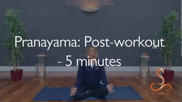 Pranayama: Post-workout with Poppy Doorbar - 5 minutes