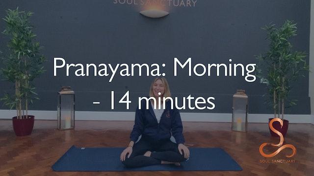Pranayama: Morning with Poppy Doorbar - 14 minutes