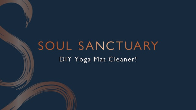 Easy, natural DIY yoga mat cleaner!