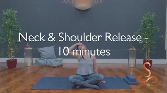 Neck & Shoulder Release with Polly Woodward - 10 minutes