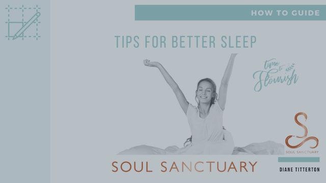 Lesson 5c - Worksheet: Tips for Better Sleep