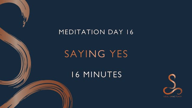 Meditation Day 16 - Saying Yes with P...