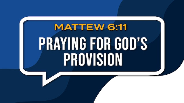Praying For God's Provision