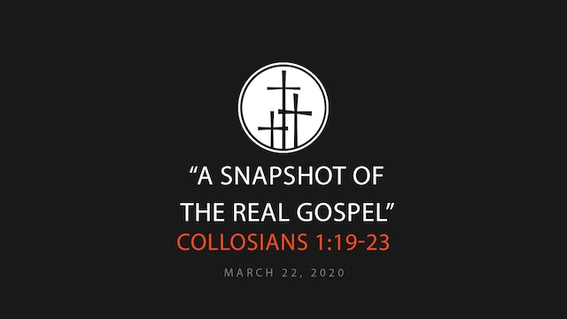 A Snapshot of the Real Gospel