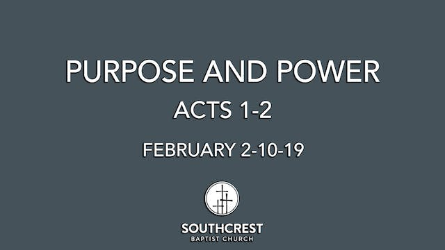 Purpose and power