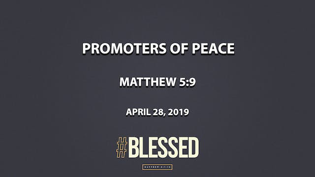 Promoters of Peace