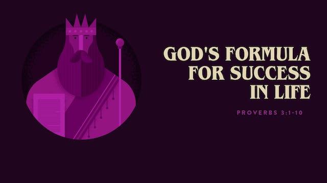 God's Formula for Success In life // ...