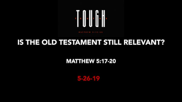 Is the Old Testament Still Relevant