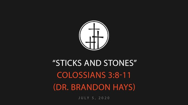 Sticks and Stones // Dr. Brandon Hays