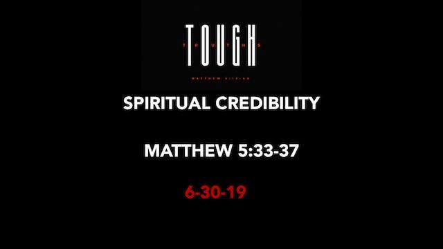 Spiritual Credibility