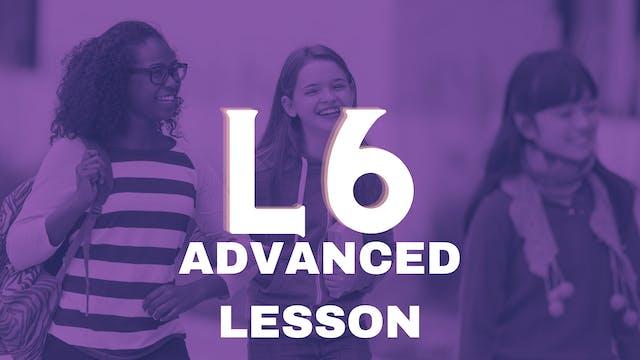 Juniors Lesson 06 Advanced