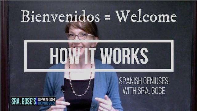 Spanish Geniuses Levels 1 & 2, + Juniors Lessons