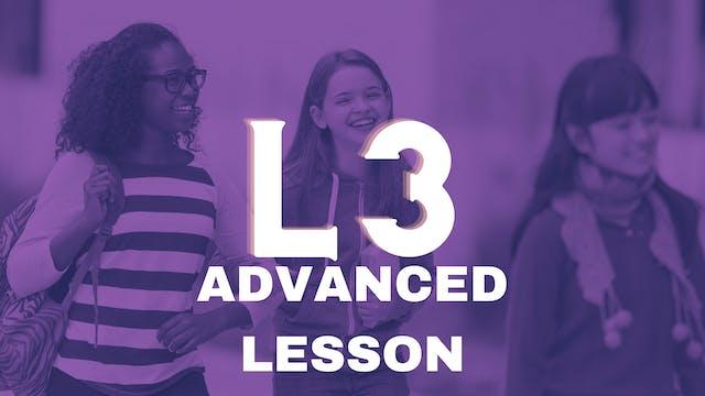 Juniors Lesson 03 Advanced