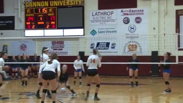 Gannon-Glenville State Women's Volleyball Highlights (September 8, 2017)