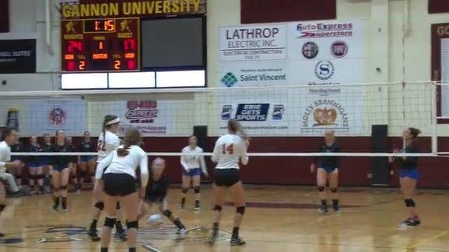 Gannon-Glenville State Women's Volleyball Highlights (September 8, 2017)