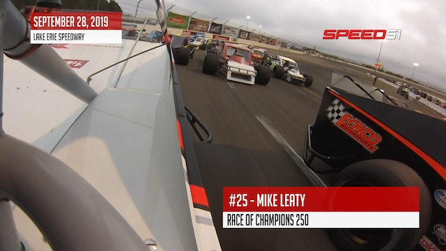 Mike Leaty in Race of Champions 250 at Lake Erie - On-Board
