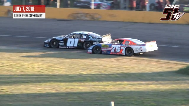 TUNDRA Limited Late Models at State Park - Highlights July 7, 2018