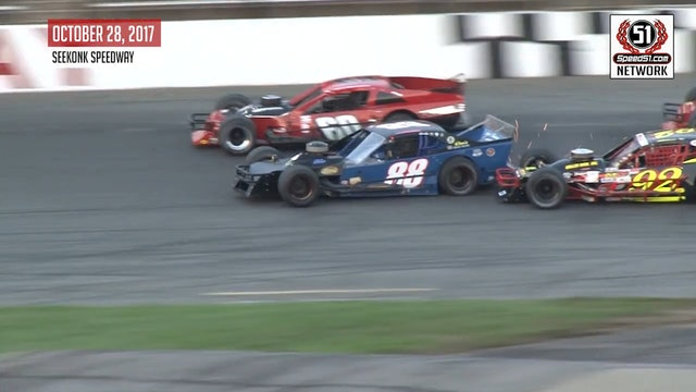 2017 Haunted Hundred - Seekonk - Tri-Track Modifieds - Highlights