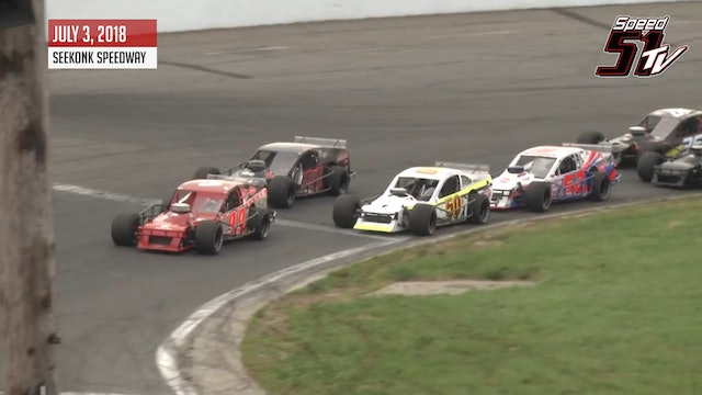 Tri-Track Open Modifieds at Seekonk - Highlights July 3, 2018