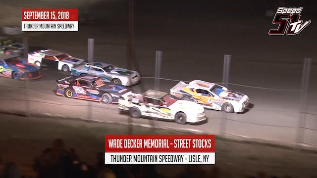 Street Stocks - Wade Decker Memorial ...