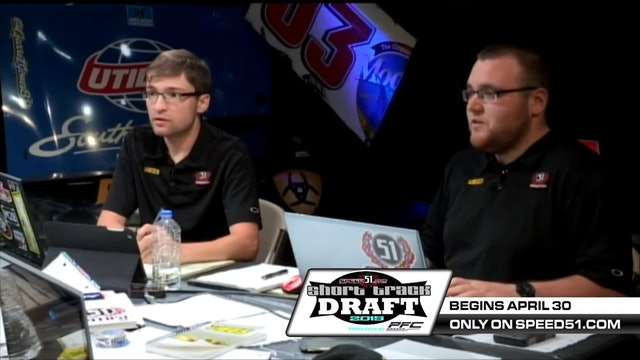 51 Short Track Draft War Room Presented by PFC Brakes Episode 1