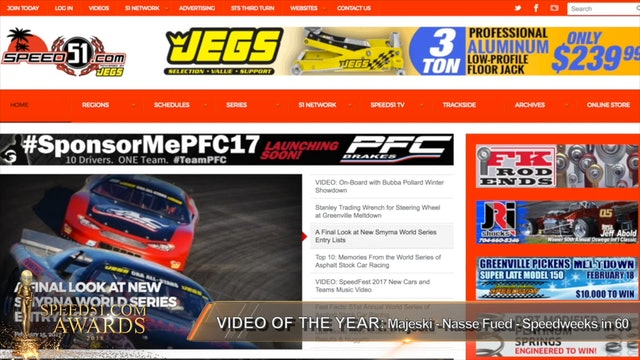 2018 Speed51 Awards - VOTY: #14 - Speedweeks - Majeski vs.Nasse Feud