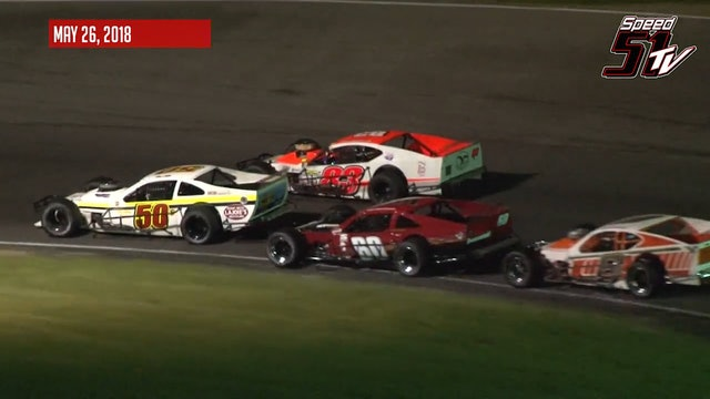 Tri-Track Open Modifieds at Claremont Speedway - Highlights May 26, 2018