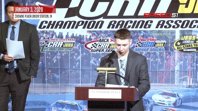 Zachary Tinkle at the CRA Banquet - J...