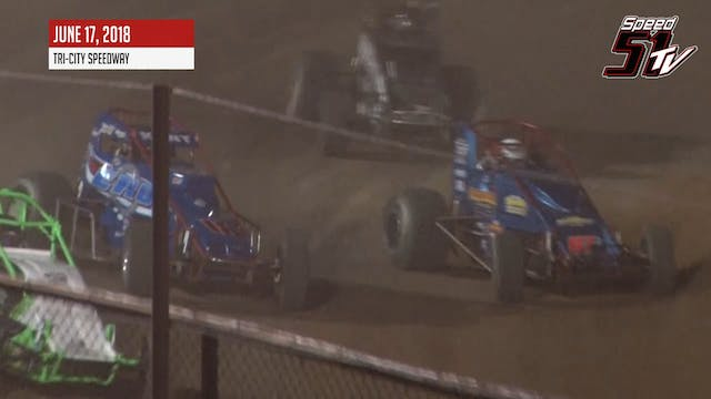 RUSH Crate Wingless Sprints at Tri-Ci...