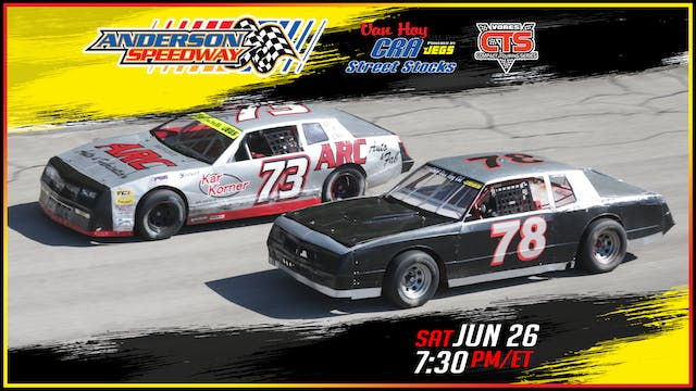CRA Street Stocks & Vores at Anderson...