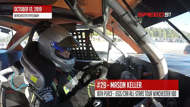 Mason Keller Onboard - JEGS/CRA All-Stars Tour at Winchester - Oct. 12, 2019