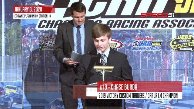 Chase Burda at the CRA Banquet - Janu...
