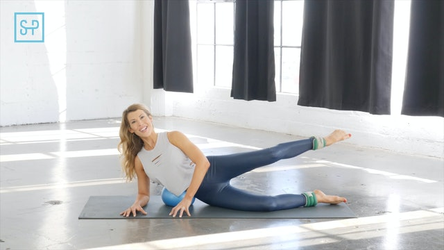 Hips + Glutes with ankle weights and a small ball