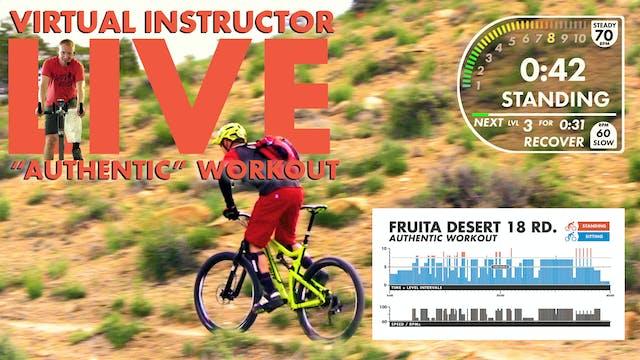 Fruita Desert AUTHENTIC W/ Live Virtual Instructor