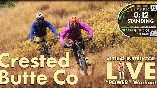 Crested Butte POWER Workout W/ Live Virtual Instructor Personal Use