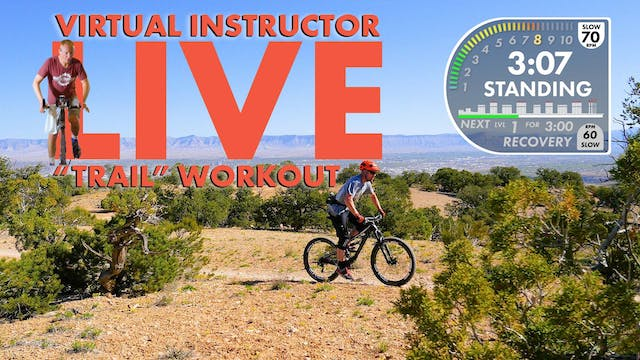 """Lunch Loops """"Trail"""" Workout LIVE Virtual Instructor W/Eric Personal Use"""