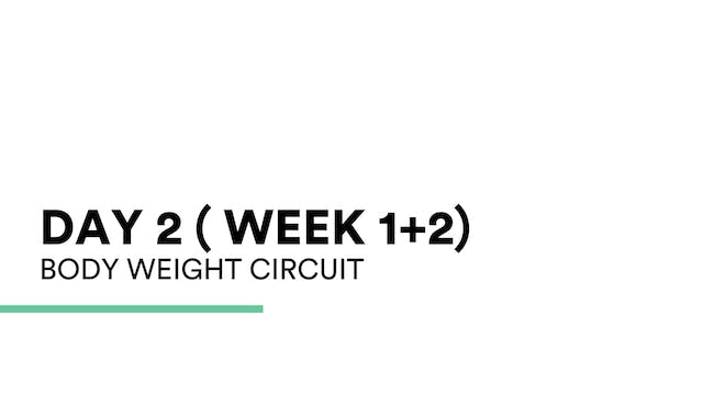 Bodyweight circuit (week 1+2 | Day 2)