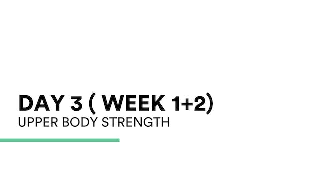 Upper Body Strength (week 1+2 | Day 3)