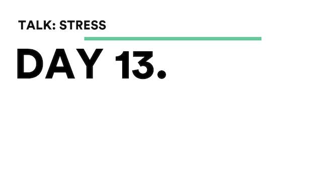 Day 13 - Talk: Stress